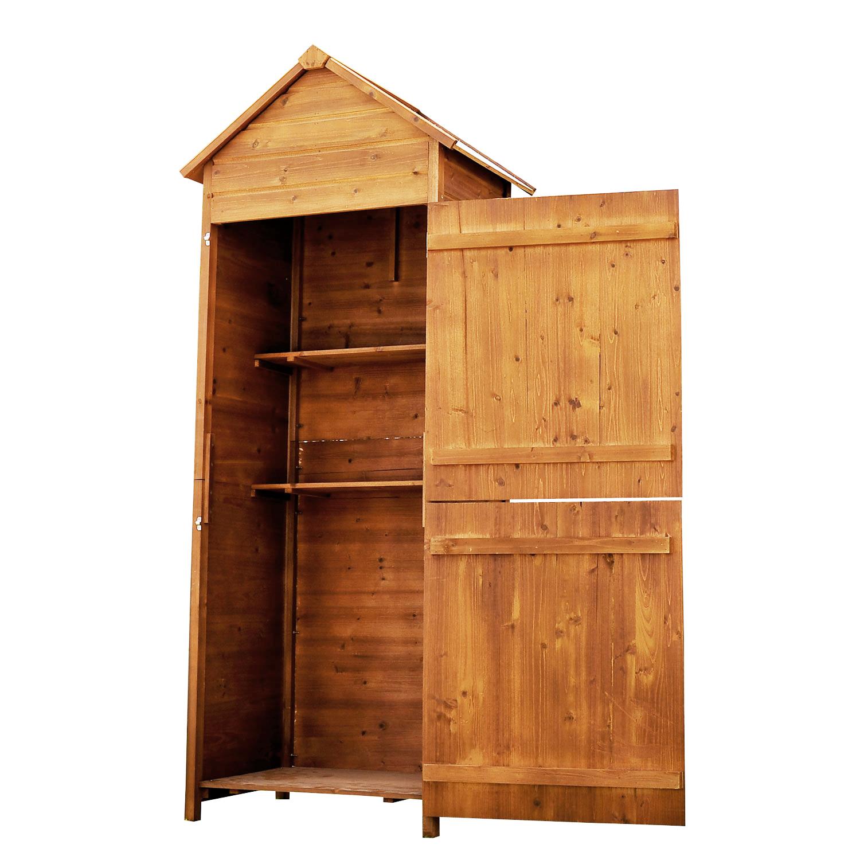 meuble armoire abri de jardin rangement outils ext rieur en bois massif neuf 53. Black Bedroom Furniture Sets. Home Design Ideas