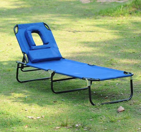 Transat de jardin et plage chaise longue pliante bain de ...
