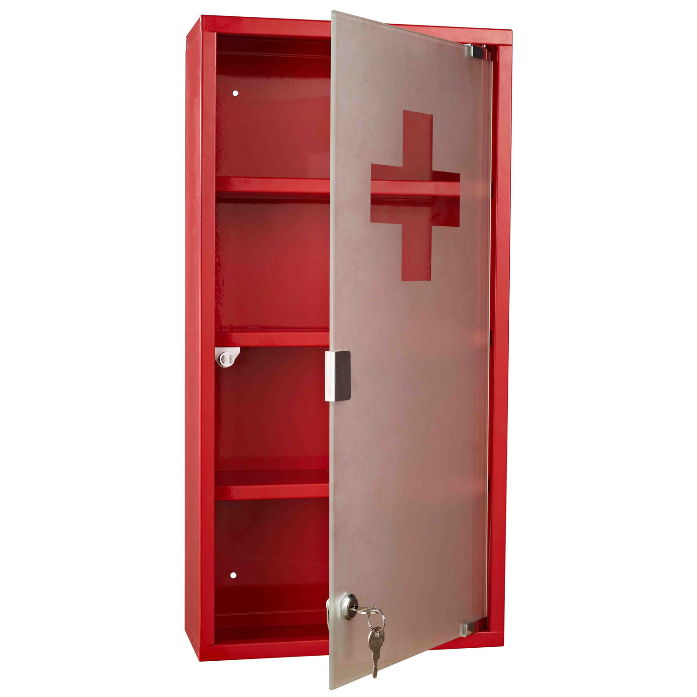 armoire pharmacie en acier inoxydable avec porte en verre tremp e 25x12x48cm ebay. Black Bedroom Furniture Sets. Home Design Ideas