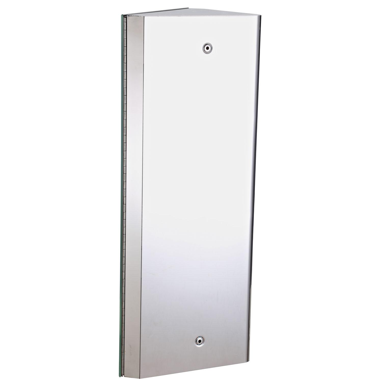 Armoire miroir d angle de salle de bains h 556mm pictures to pin on pinterest - Miroir d angle salle de bain ...
