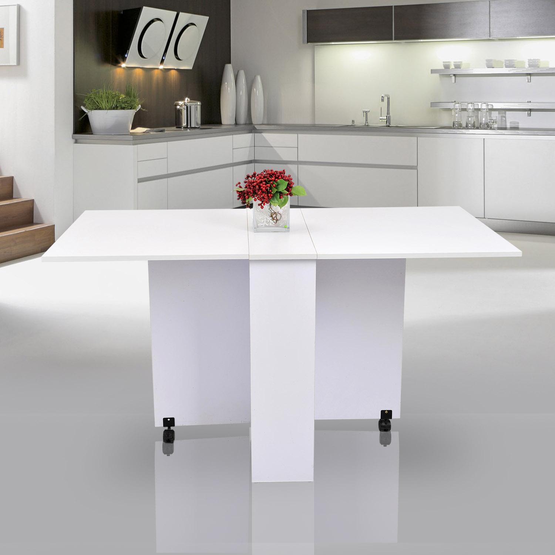 Table de cuisine salle manger pliable amovible tr s pratique neuf 21 ebay - Table a manger pliable ...